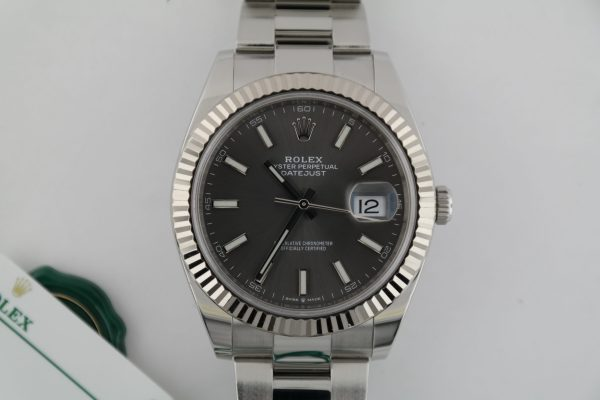 Rolex Datejust 41 126334 Dark Rhodium Dial Oyster Band Box & Papers Year 2020