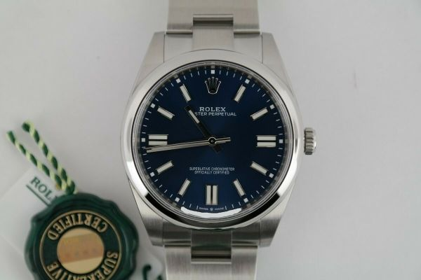 Rolex Oyster Perpetual 41 124300 Blue Index Dial Stainless Steel