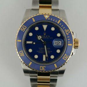Men's Rolex Submariner 116613LB Blue Ceramic Bezel Flat Blue Dial Oyster Band