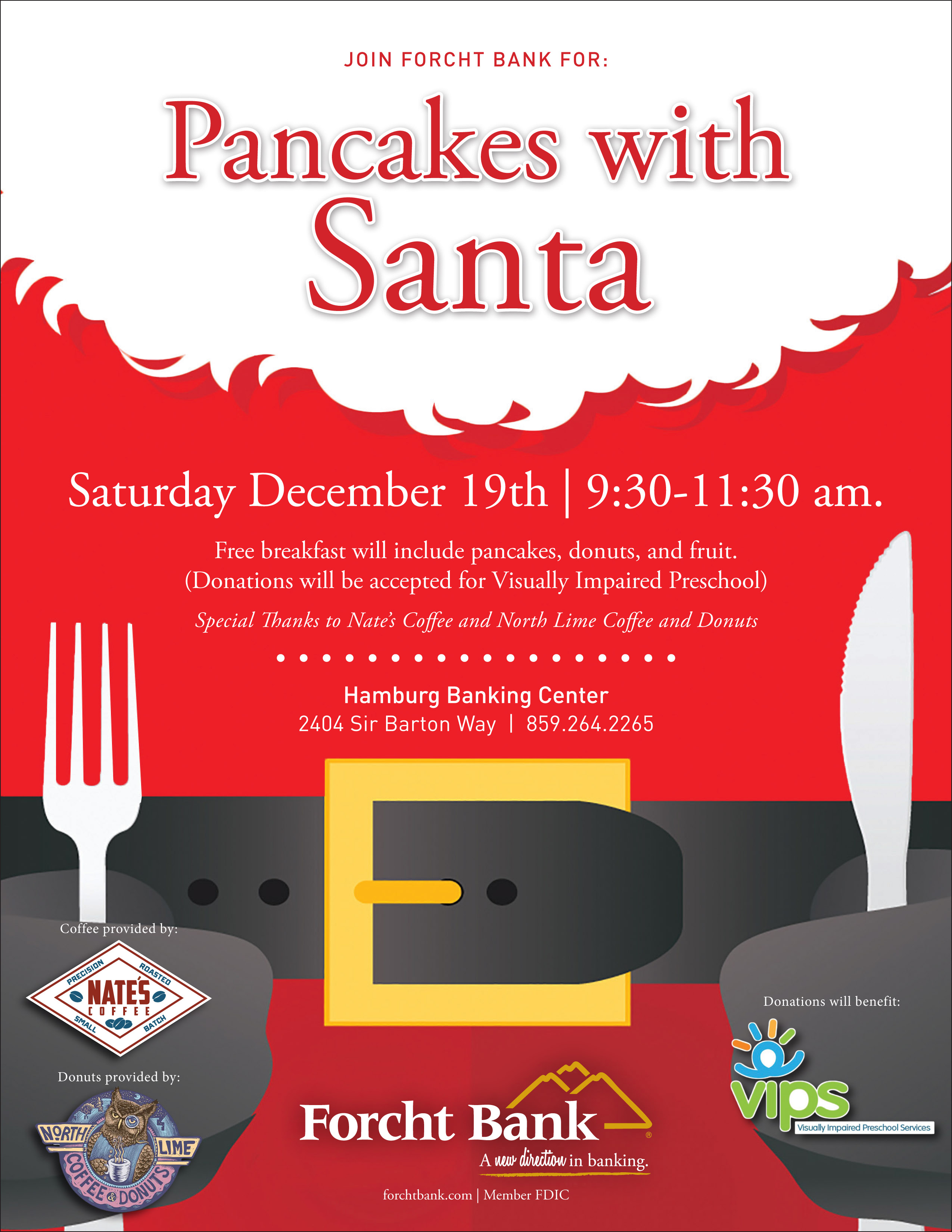 Kids Pancakes With Santa Forcht Bank