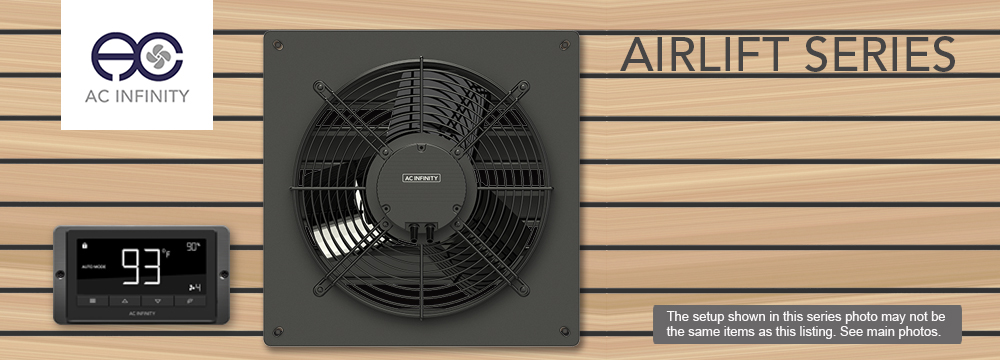 details about airlift t14 shutter exhaust wall mount fan 14 attic shed workshop greenhouse