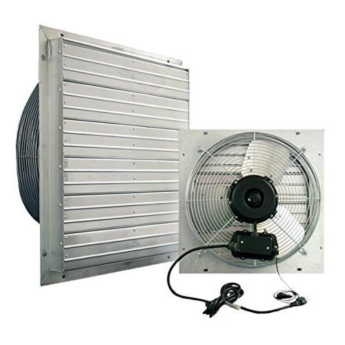 mulit speed louvered exhaust fans for