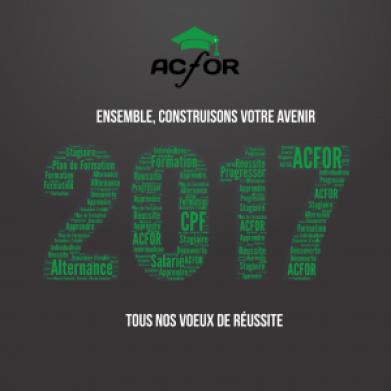 Bonne Année avec ACFOR Formation