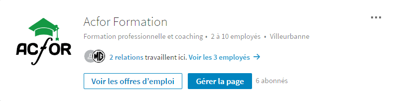 Acfor sur Linkedin