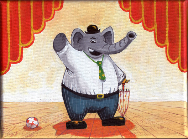 Un éléphant au cirque