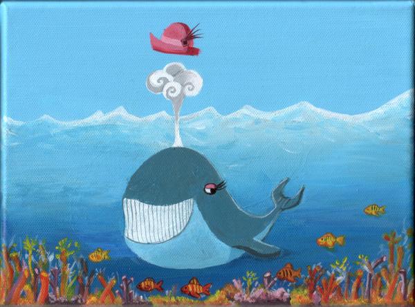 Une baleine chic