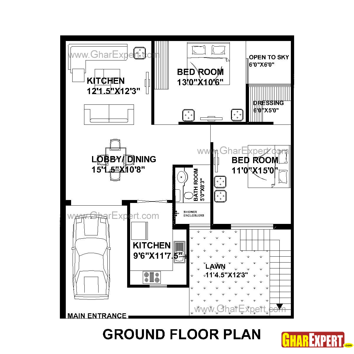 House Plan For 33 Feet By 40 Feet Plot Everyone Will Like