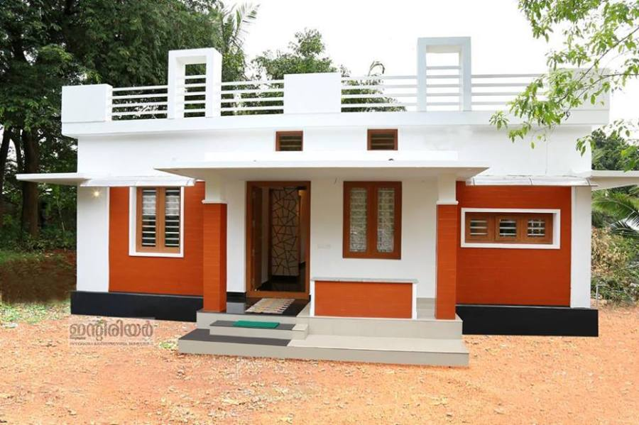 1250 square feet Kerala House Plan With Two Bedrooms   Homes in     Total Bedrooms   2  Type   Single Floor Style   Contemporary