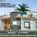 Two Bedroom Floor Plans India 2bhk Home Design Traditional Living Room