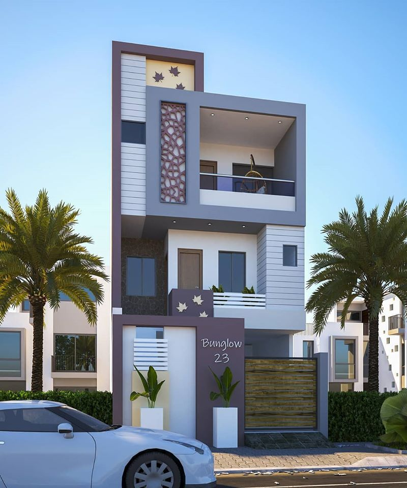 Best Duplex House Elevation Design Ideas India, Modern ...