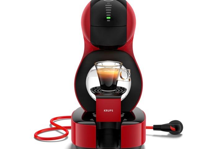 La machine à café Dolce Gusto Lumio Rouge de chez Krups à -50%.