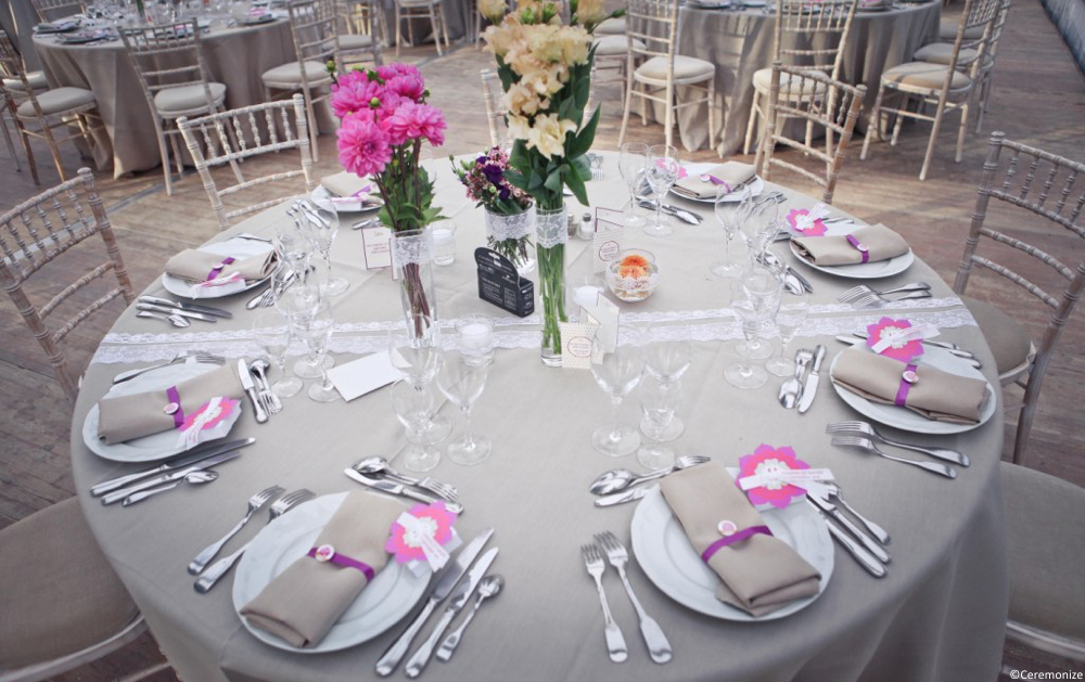une decoration de table champetre et chic par ceremonize