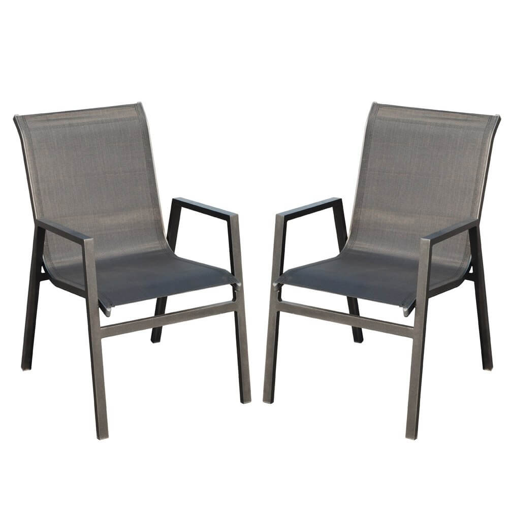 chaise de jardin en aluminium vegas lot de 2