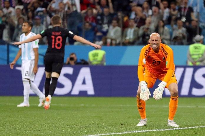 Falha do goleiro Caballero abriu caminho para derrota da Argentina