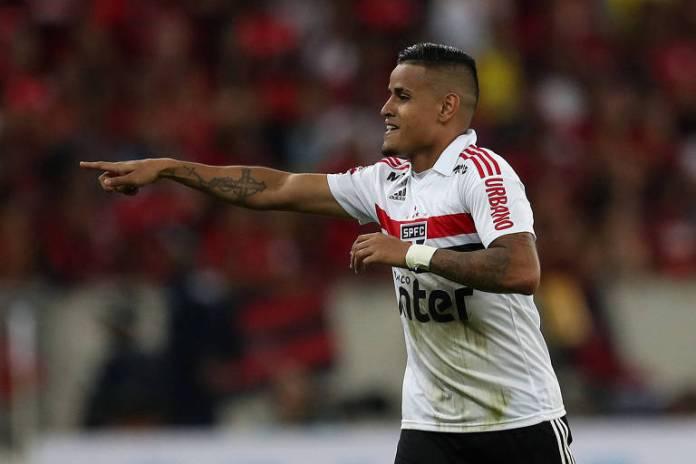Everton marcou o gol da vitória são-paulina sobre o Flamengo