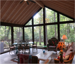 photo of interior of enclosed porch rebuilt by Acheson Builders