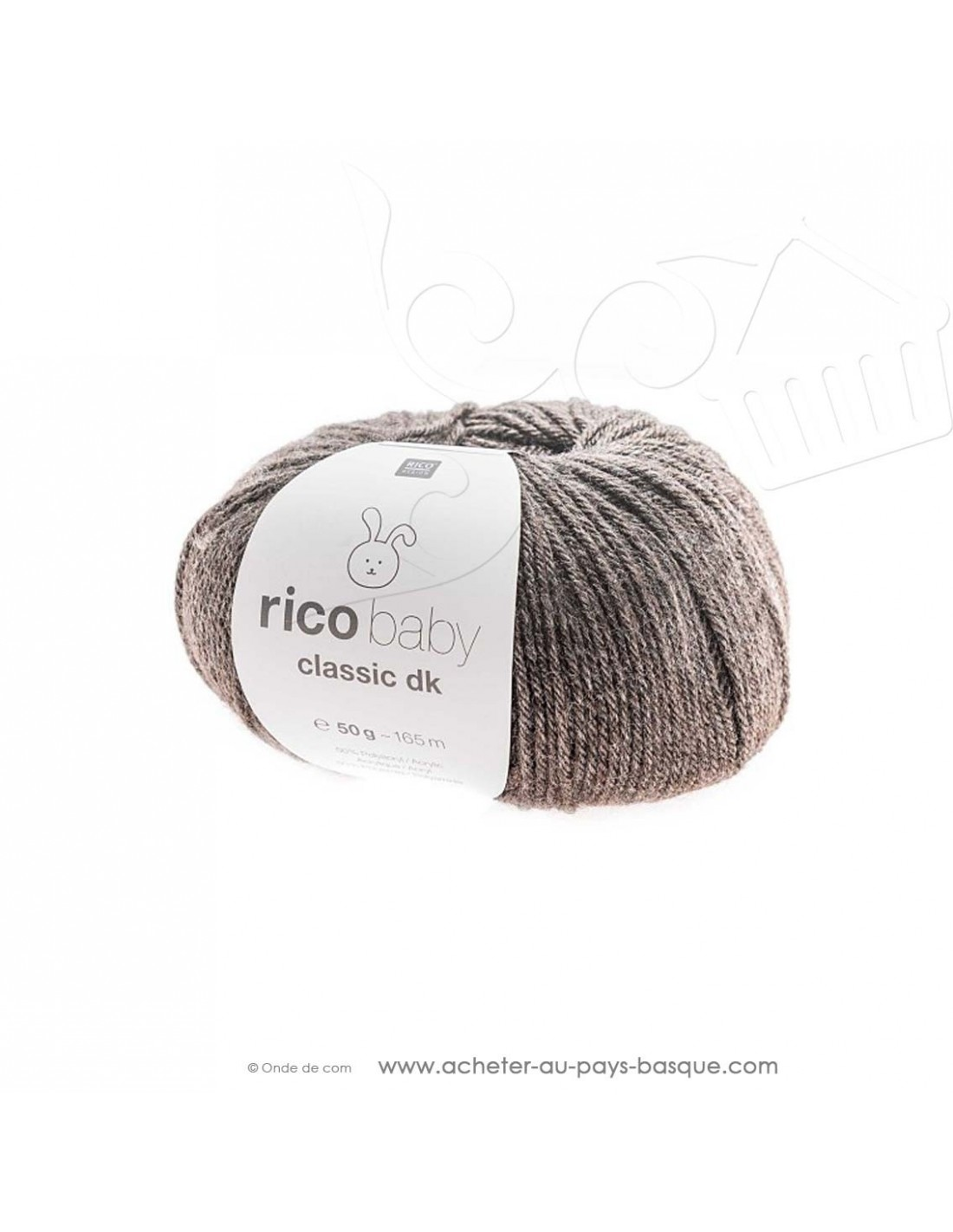 pelote laine tricot rico baby classic dk brun melange 065 rico design
