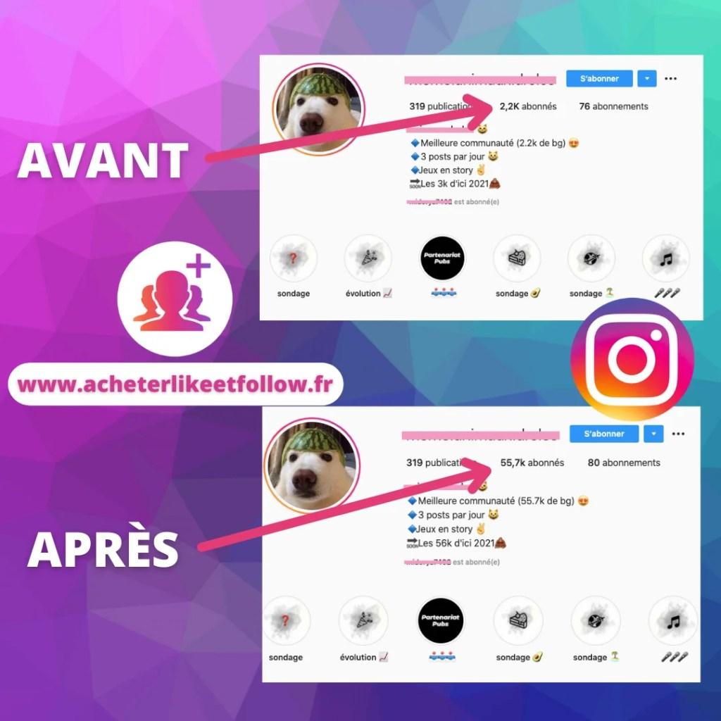 Avis clients acheter likes et followers Instagram et reseaux sociaux