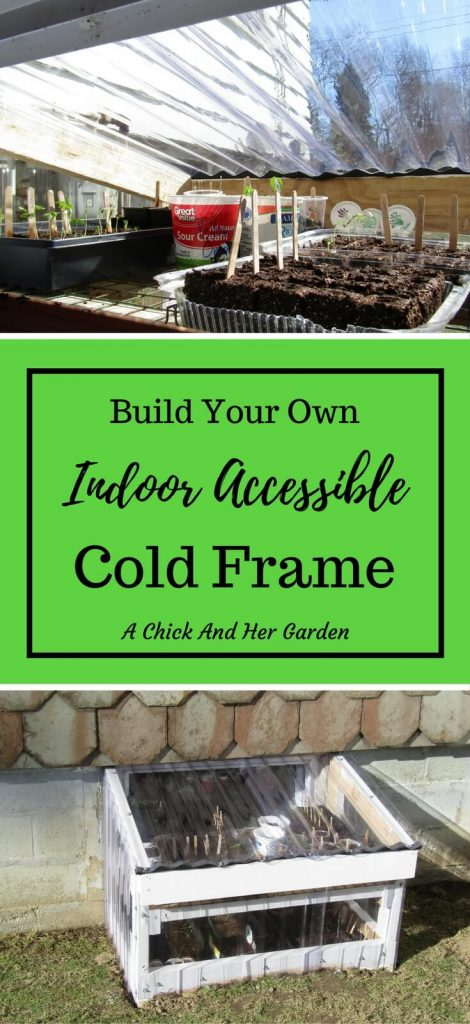 If you live in a northern climate a cold frame is a must for a longer growing season. Make seed starting even easier by making it indoor accessible...