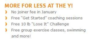 More for Less at the Y!