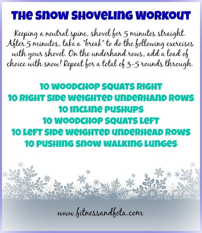 snow shoveling workout