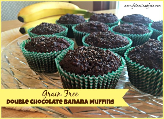 Grain Free Double Chocolate Banana Muffins