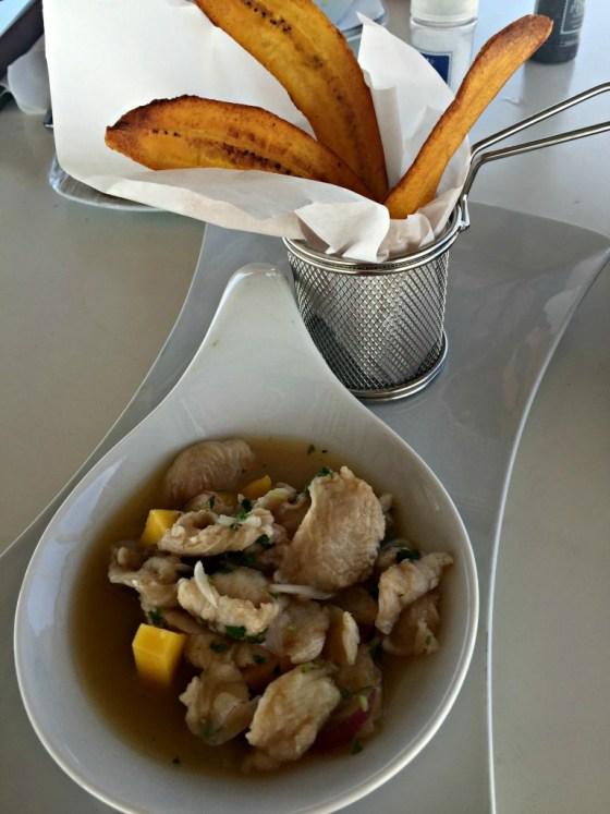 Aruba Honeymoon: Ceviche and Plantains