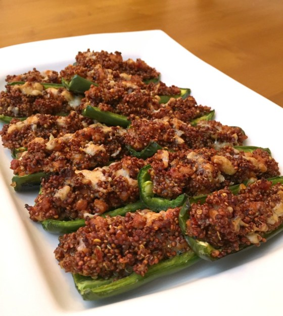 Spicy Sausage and Quinoa Stuffed Jalapenos