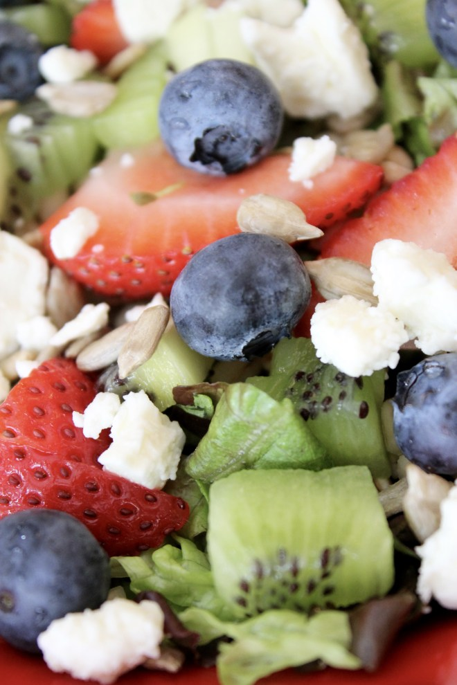 Summer Fruit and Barley Salad with Lemon Vinaigrette