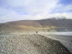 Keel Strand: natural bank of pebbles