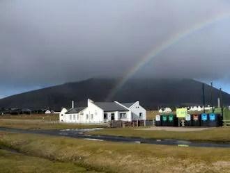 Keel: rainbow on Minaun Mountain