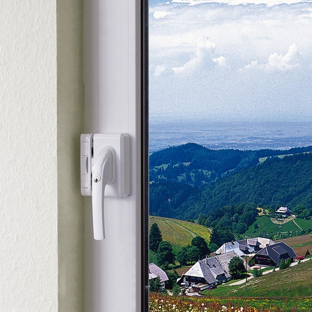ABUS FO 500 Stabiles Fenster-Zusatzschloss in Fenstergriff-Optik