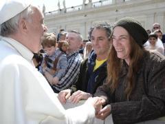 Papst Franziskus und Patti Smith
