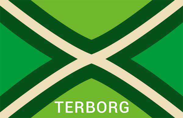 Achterhoekse Vlag Sticker terborg