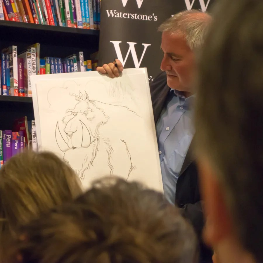 Chris Riddell - live drawing