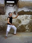 old man doing Kung Fu
