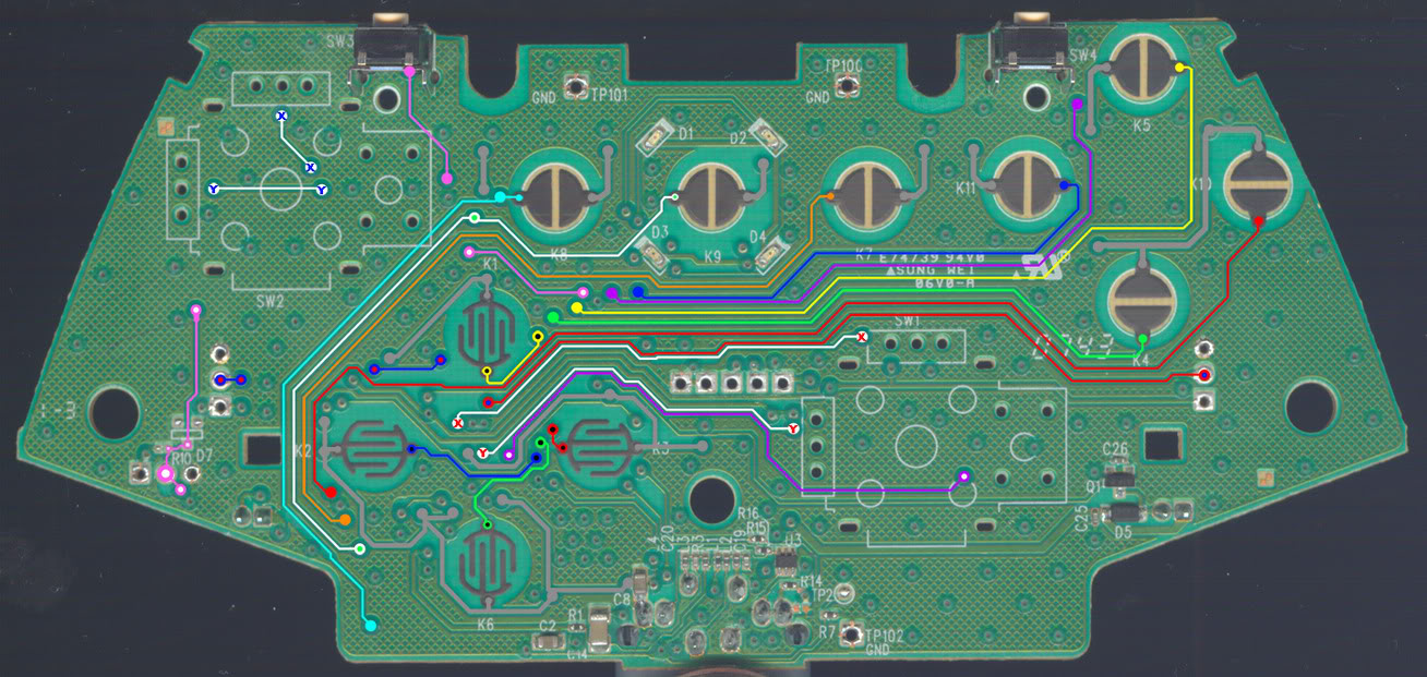 WRG-1056] Xbox 360 Wireless Controller Diagram on