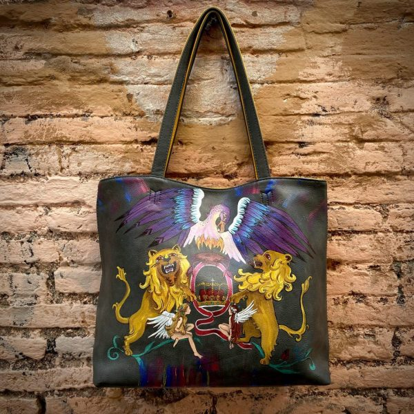 The Queen hand painted bag