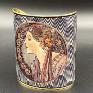 Alfons Mucha Bangle Cuff