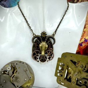 Aries Steampunk Necklace