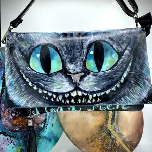 Cheshire Cat Hand painted Bag