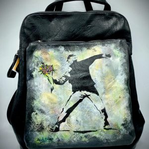 Banksy Backpack Hand painted