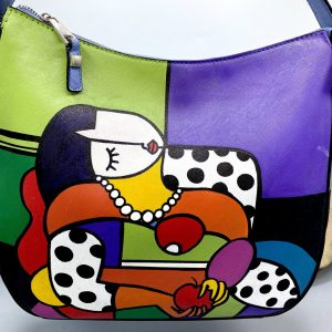 Dreaming Picasso hand painted bag