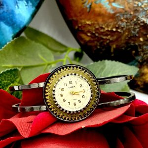 Steampunk Watch Face bracelet