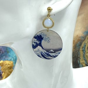Hokusai Wave earrings