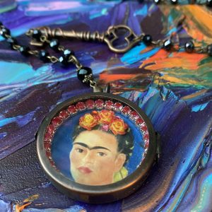 Frida Kahlo Necklace Shadow Box