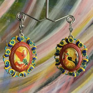Marc Chagall Handmade Earrings