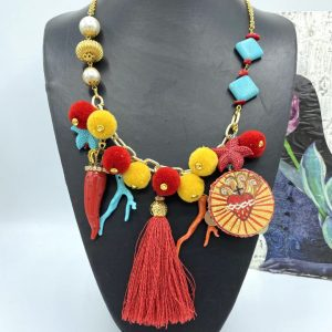 Neapolitan Tambourine Necklace