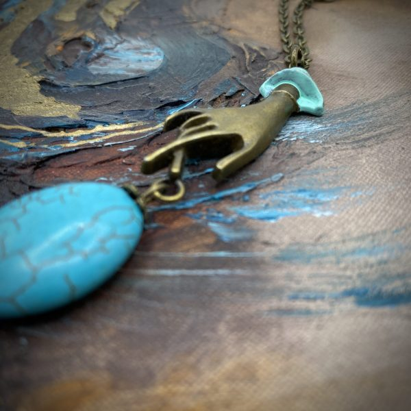 Turquoise Steampunk Necklace