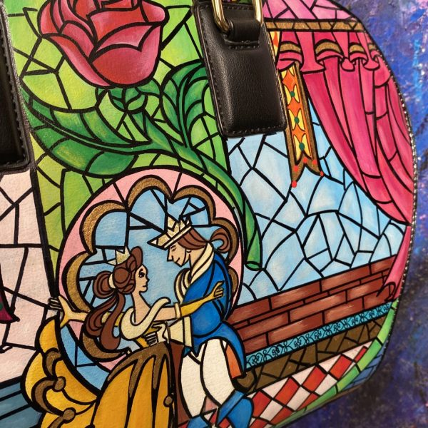 Beauty and the Beast Hand painted bag